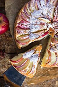 Hintergrundbilder Backware Obstkuchen Äpfel Stück das Essen