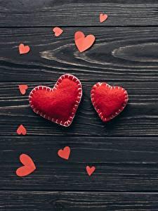 Desktop hintergrundbilder Valentinstag Herz Bretter Vorlage Grußkarte