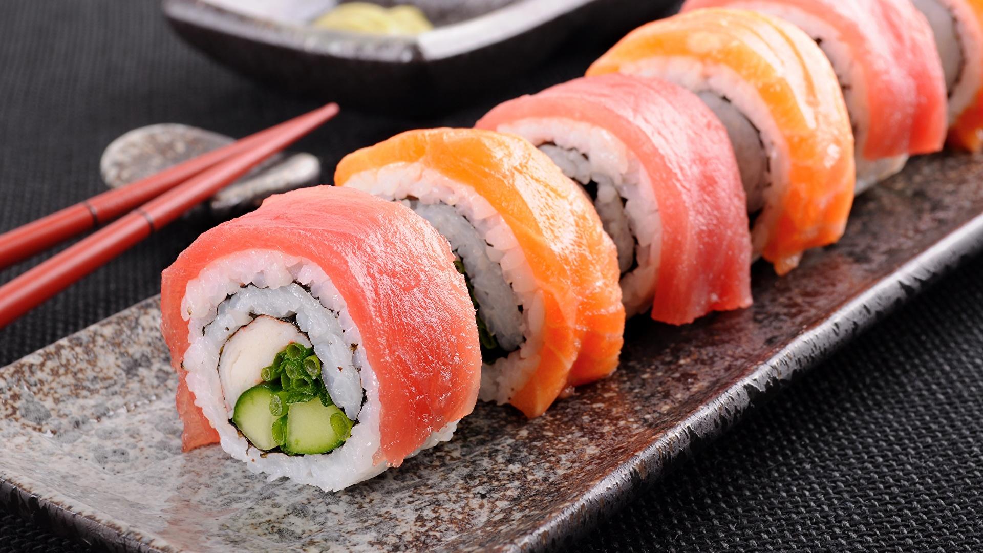 Desktop Wallpapers Sushi Fish - Food Food Closeup 1920x1080