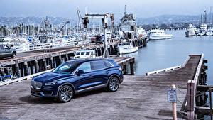 Bilder Lincoln Blau Metallisch 2019 Nautilus Autos