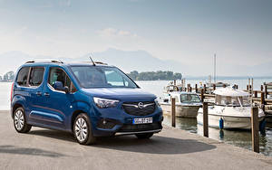 Bilder Opel Ein Van Blau Metallisch 2018-19 Combo Life Autos