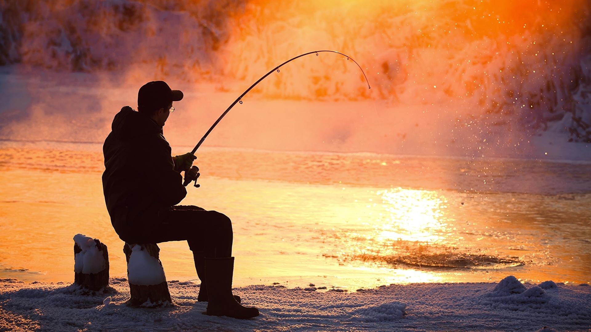 Bilder von Mann Fischerei Dampf Sitzend 1920x1080 sitzt sitzen