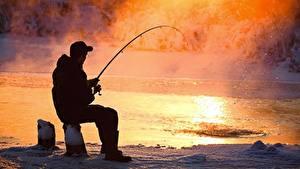 Photo Fishing Man Sitting Vapor