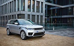 Fotos Land Rover Silber Farbe Hybrid Autos Crossover 2017-19 Sport P400e HSE Worldwide