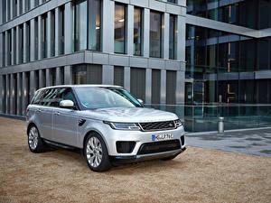 Fotos Land Rover Silber Farbe Hybrid Autos Crossover 2017-19 Sport P400e HSE Worldwide auto
