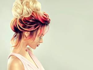 Bilder Haar Farbigen hintergrund Frisur Sofia Zhuravets junge Frauen