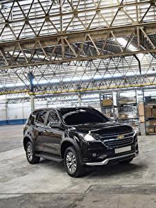 Hintergrundbilder Chevrolet Schwarz Metallisch 2019 TrailBlazer LTZ Perfect Edition II Autos