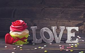 Pictures Cupcake Love Valentine's Day Food
