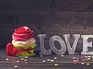 Papel de Parede Desktop Cupcake Amor Dia dos Namorados comida