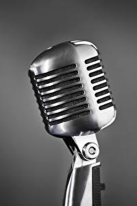 Hintergrundbilder Hautnah Mikrofon Silber Farbe Grauer Hintergrund