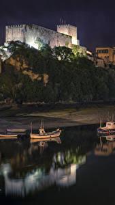 Fotos Spanien Gebäude Küste Boot Nacht San Vicente de la Barquera Cantabria