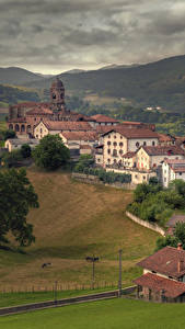Fotos Spanien Gebäude Gebirge Felder Ziga Navarra Städte