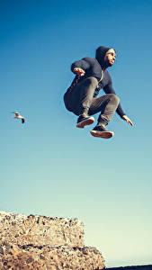 Bilder Mann Sprung sportliches