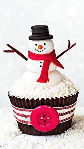Hintergrundbilder Süßware Törtchen Cupcake Schneemänner Design Der Hut Schal das Essen