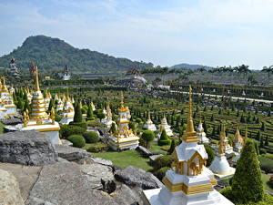 Hintergrundbilder Thailand Tropen Park Design Pattaya, Nong Nooch tropical Park, Chonburi province Städte