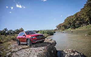 Wallpaper Mercedes-Benz Red Sport utility vehicle 2020 GLE 450 4MATIC