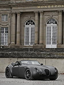 Hintergrundbilder Wiesmann Grau Cabrio Roadster 2011 Roadster MF5 Black Bat auto