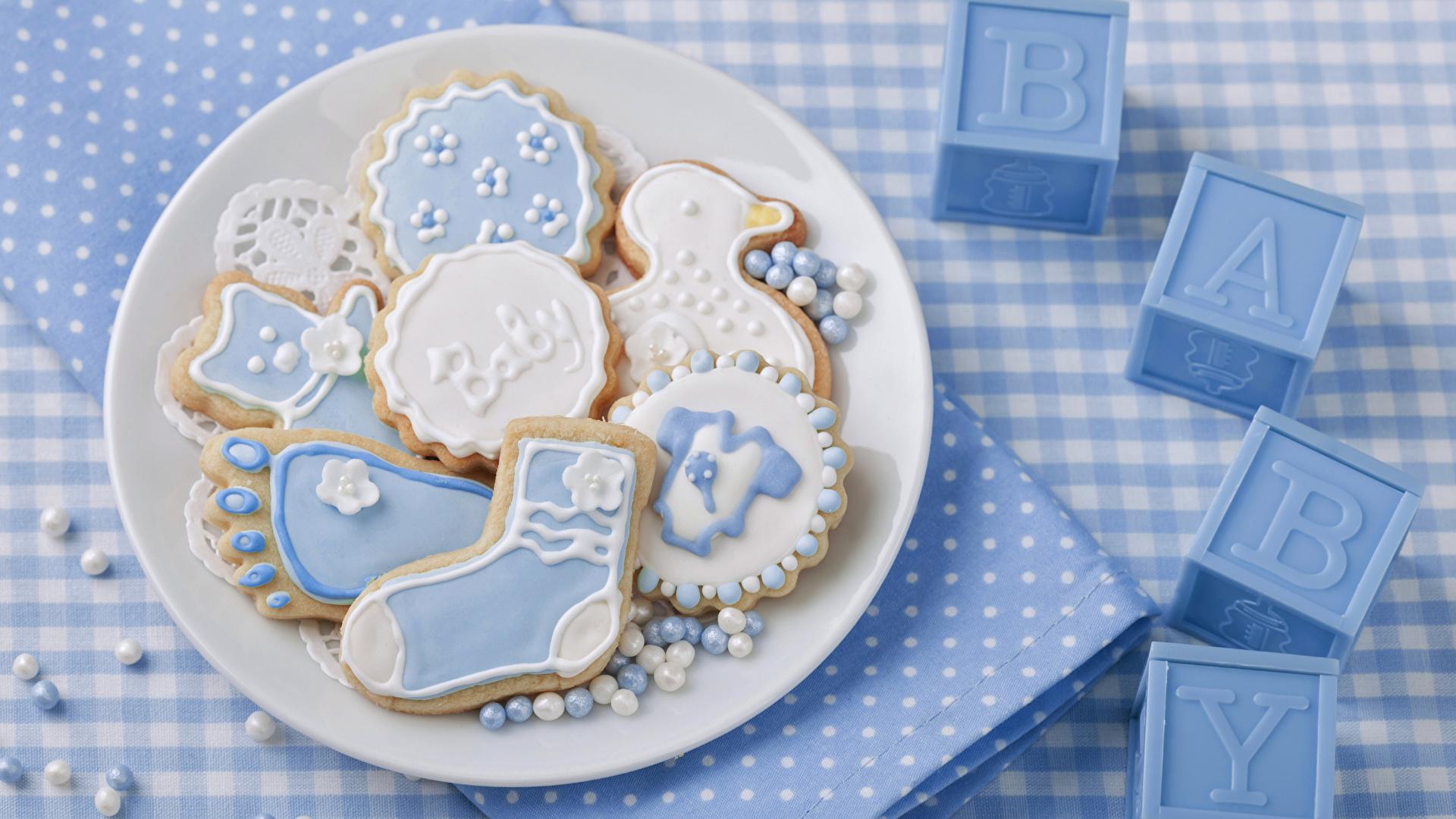 Bilder Kekse Teller Lebensmittel Design 1920x1080