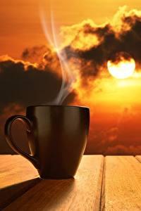 Bilder Morgen Tasse Dampf Sonne