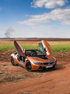 Pictures BMW Orange Convertible Roadster 2018 i8
