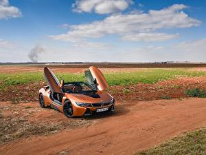 Fotos BMW Orange Cabrio Roadster 2018 i8 Autos