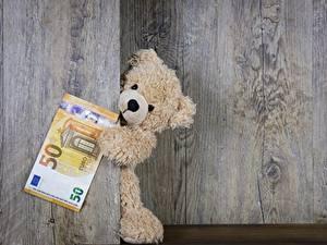 Hintergrundbilder Teddybär Euro Geld Banknoten Bretter