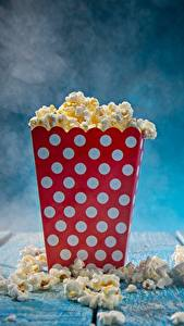 Fotos Bretter popcorn Lebensmittel