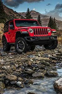 Fotos Jeep Steine Rot Bach 2018 Wrangler Rubicon Autos
