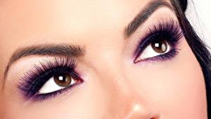 Bilder Augen Wimper Gesicht Blick Make Up Nase Mädchens