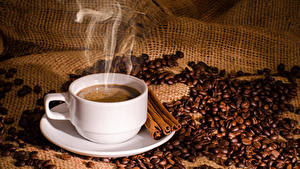 Bilder Kaffee Zimt Tasse Getreide Dampf
