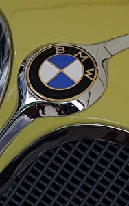Wallpaper Closeup BMW Logo Emblem Cars
