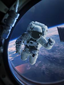 Bilder Astronauten Fenster Bullauge Weltraum