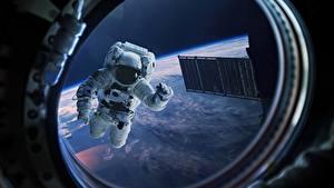 Picture Cosmonauts Window Porthole