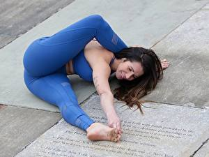 Hintergrundbilder Gymnastik Fitness Bein Mädchens Sport