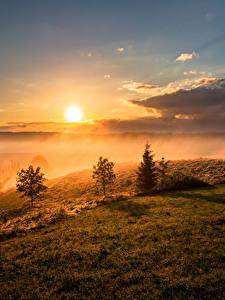 Hintergrundbilder Landschaftsfotografie Sonnenaufgänge und Sonnenuntergänge Himmel Gras Wolke Sonne