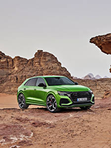 Fotos Audi Crossover Grün Metallisch 2020 RS Q8 Worldwide Autos