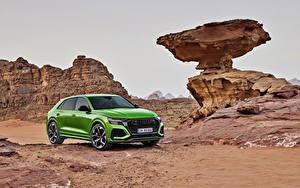 Fotos Audi Crossover Grün Metallisch 2020 RS Q8 Worldwide Autos