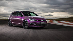 Bilder Volkswagen Violett Metallisch 2020 Golf R 5-door Final Edition Autos