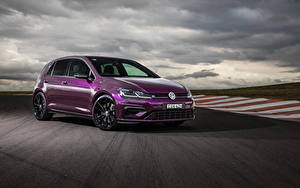 Bilder Volkswagen Violett Metallisch 2020 Golf R 5-door Final Edition