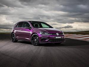 Papel de Parede Desktop Volkswagen Violeta cor Metálico 2020 Golf R 5-door Final Edition automóveis