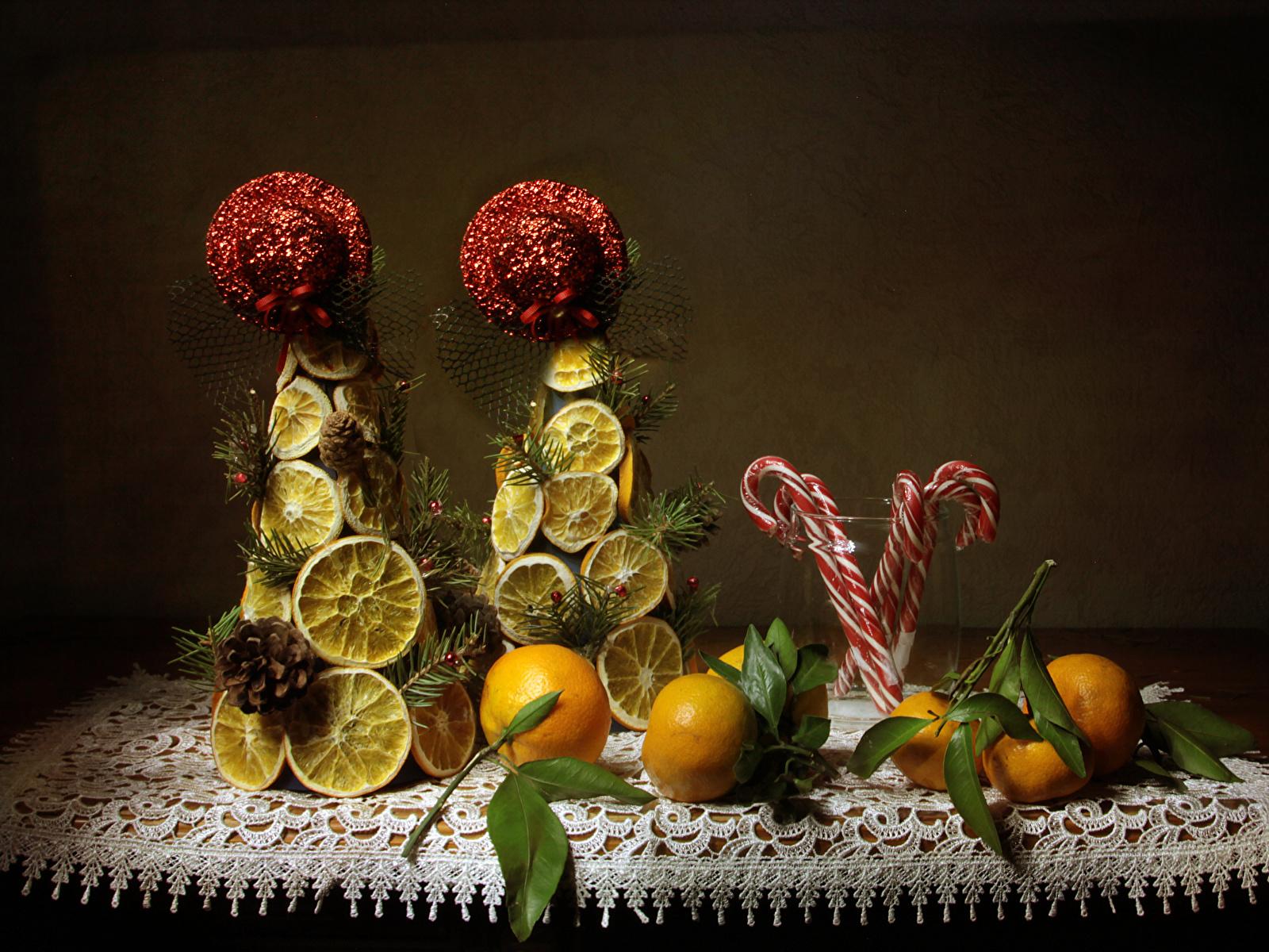 Fotos Mandarine Zitrone Lebensmittel Süßigkeiten Design 1600x1200 Süßware
