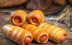 Hintergrundbilder Wiener Würstchen Backware Lebensmittel