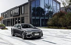 Hintergrundbilder Audi Graue Metallisch 2019-20 A6L 55 TFSI quattro S line auto