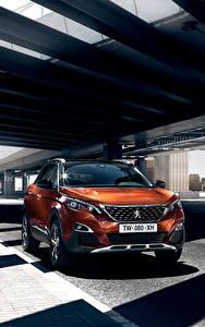 Bilder Peugeot Orange Metallisch 2016 3008 automobil