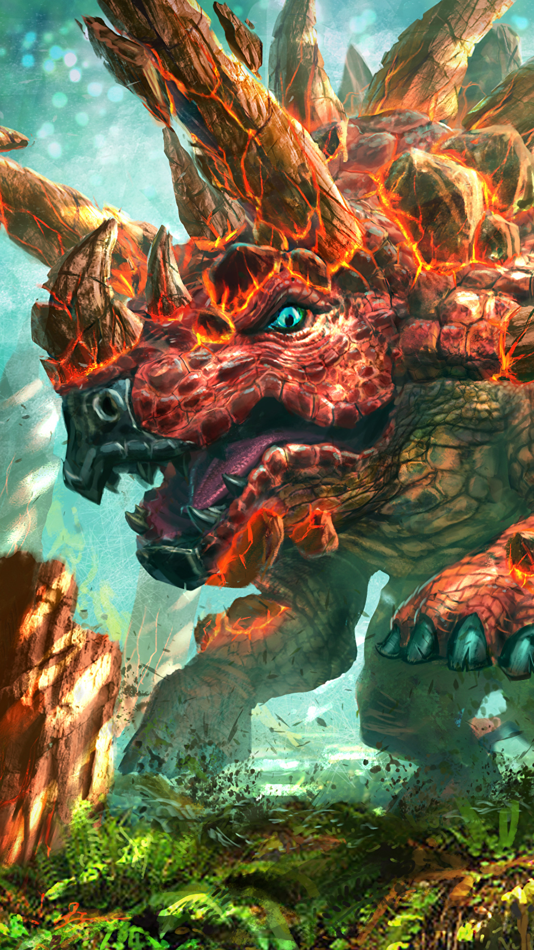 壁紙 1080x1920 Hearthstone Heroes Of Warcraft 恐竜 Iron Hide