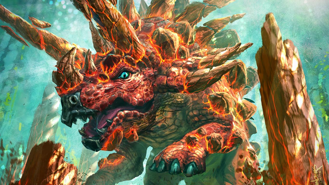 壁紙 1366x768 Hearthstone Heroes Of Warcraft 恐竜 Iron Hide