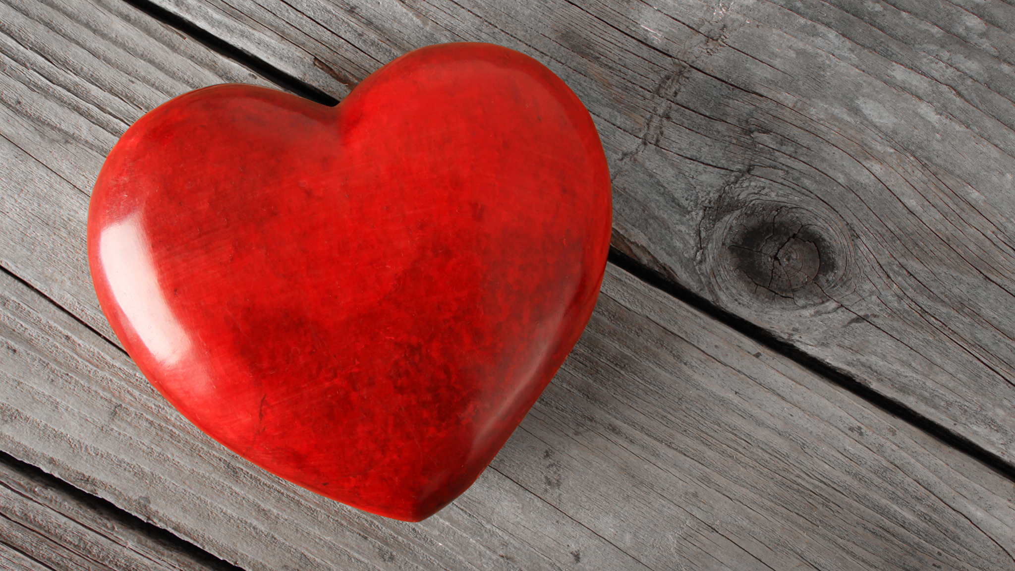Hintergrundbilder Valentinstag Herz Rot Bretter 2048x1152
