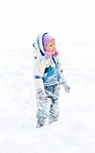 Hintergrundbilder Winter Schnee Kleine Mädchen