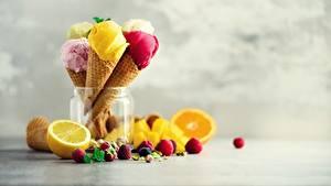 Bilder Speiseeis Beere Obst Eistüte