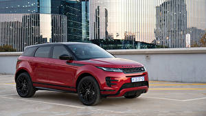 Wallpaper Range Rover Wine color Metallic CUV 2019 Evoque P250 HSE R-Dynamic Black Pack automobile